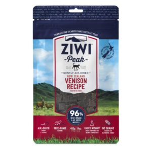 A 400g bag of ZIWI Peak Air-Dried Venison for Cats