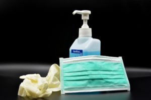 Glove Mask and hand sanitiser