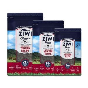 Three bags of Ziwi Peak Premium Air-Dried Venison Dog Food