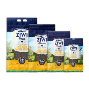 Four bags of ZIWI Peak air-dried free-range chicken for dogs