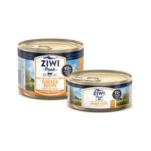 Two cans of ZIWI Peak Canned Free-Range Chicken Recipe for Cats