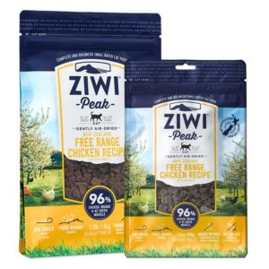 Two packets of ZIWI Peak Air-Dried Free-Range Chicken Recipe for Cats