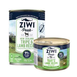 Two cans of ZIWI Peak Premium Canned tripe and lamb for Dogs